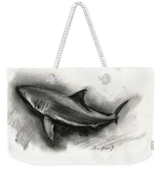 Great White Shark Drawing Weekender Tote Bag