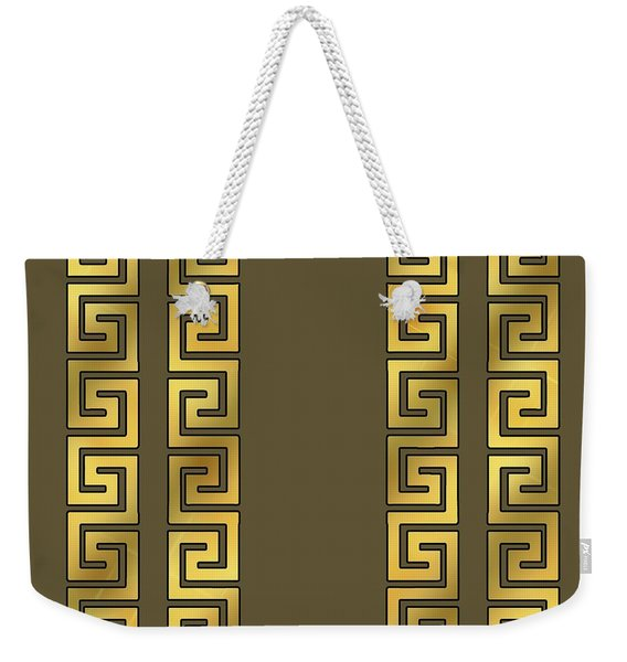 Greek Gold Pattern - Chuck Staley Weekender Tote Bag