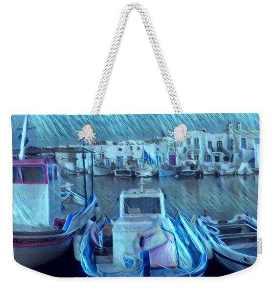 Greek Island House Weekender Tote Bag