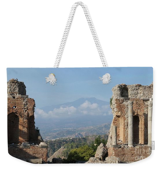 Greek Theatre Taormina Weekender Tote Bag