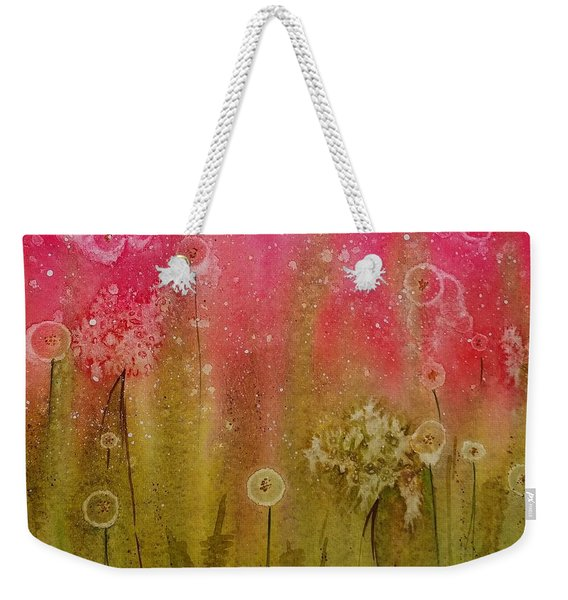 Green Abstract Weekender Tote Bag