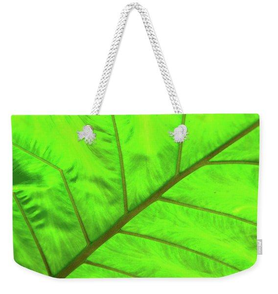 Green Abstract No. 5 Weekender Tote Bag