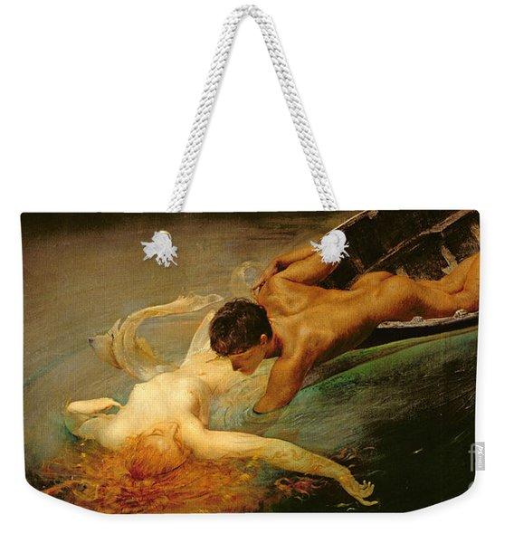 Green Abyss Weekender Tote Bag