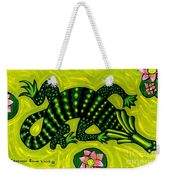 Green Alligator Weekender Tote Bag
