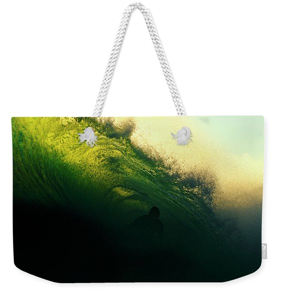 Green And Black Weekender Tote Bag