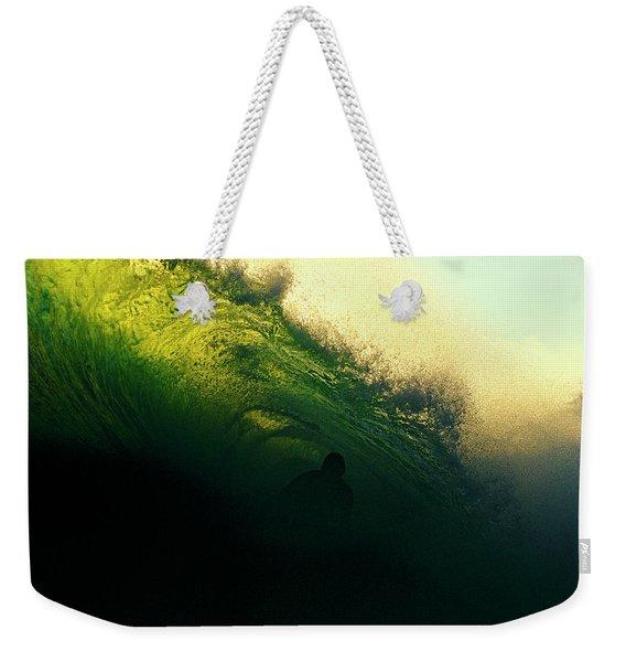 Green And Black Weekender Tote Bag