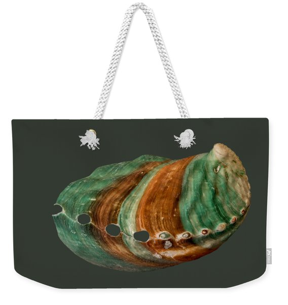 Green And Brown Shell Transparency Weekender Tote Bag