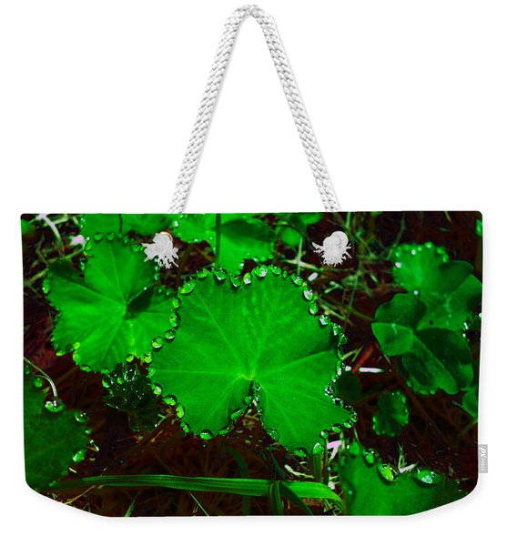 Green And Drops Weekender Tote Bag