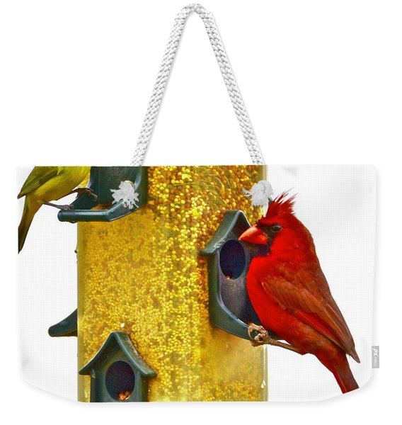 Green And Red  Weekender Tote Bag