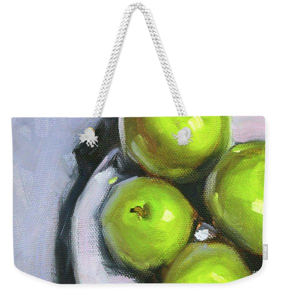 Green Apple Plate Weekender Tote Bag