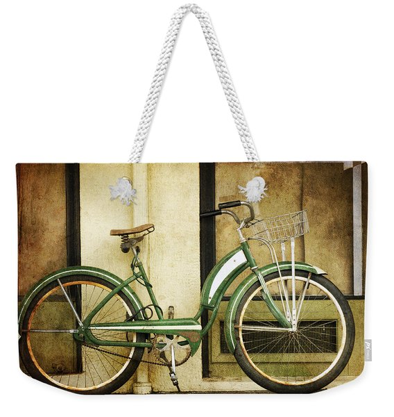 Green Bicycle Weekender Tote Bag