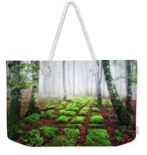 Green Brick Road Weekender Tote Bag