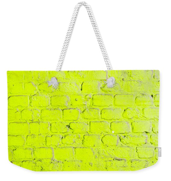 Green Brick Wall Weekender Tote Bag
