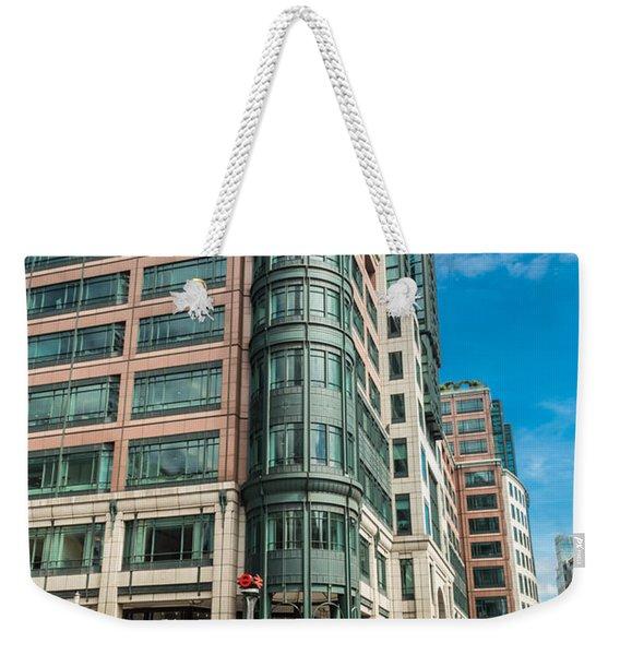 Green Building On Liverpool Metro Station London Weekender Tote Bag