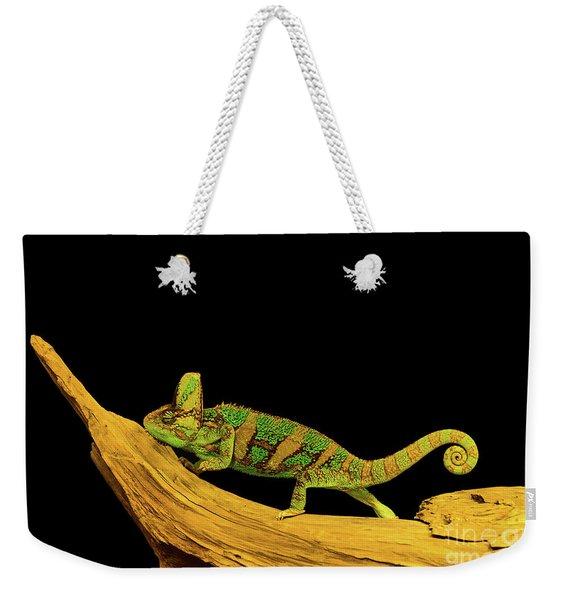 Green Chameleon Weekender Tote Bag