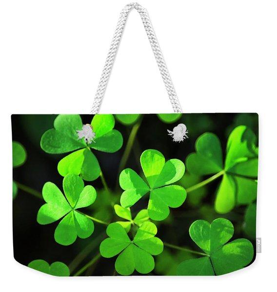 Green Clover Weekender Tote Bag