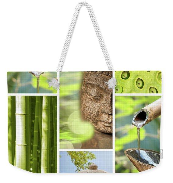 Green Collage Weekender Tote Bag