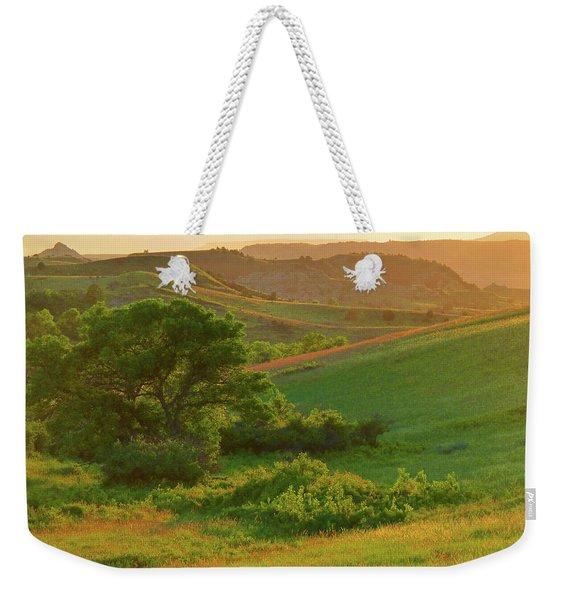 Weekender Tote Bag featuring the photograph Green Dakota Dream by Cris Fulton