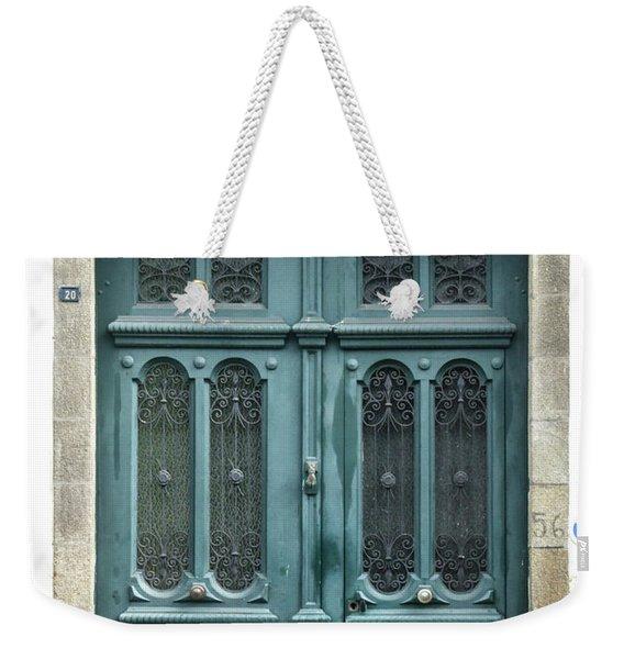Green Door Weekender Tote Bag