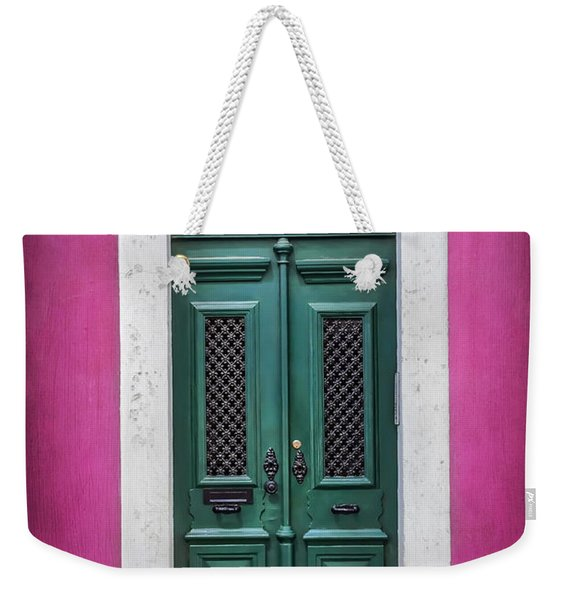 Green Door In Lisbon Weekender Tote Bag