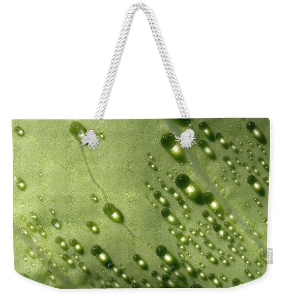 Green Drops Weekender Tote Bag
