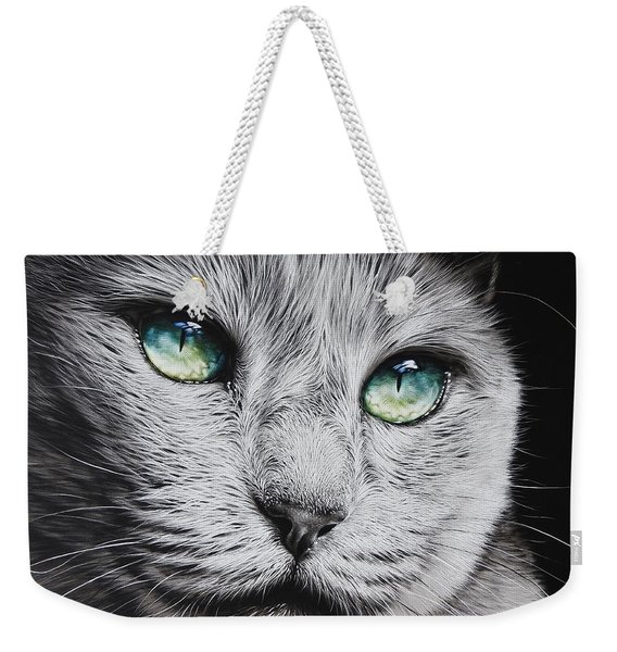 Green-eyed Diva Weekender Tote Bag