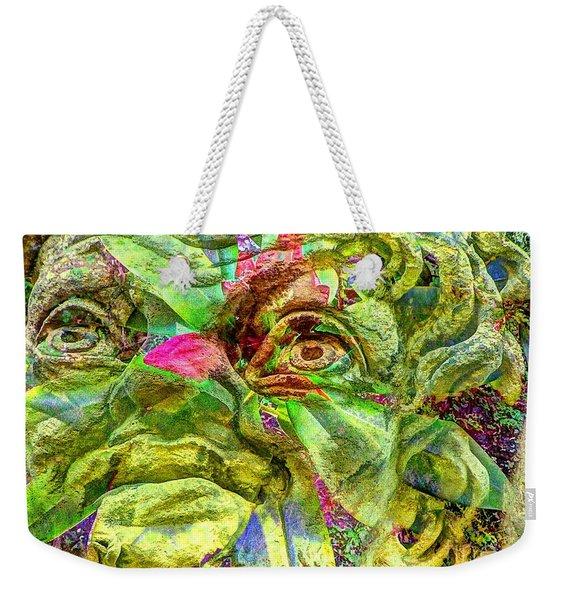 Green Face Weekender Tote Bag