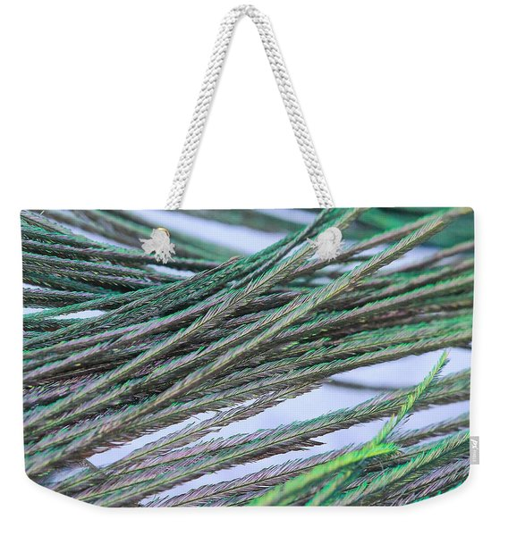 Green Feathers Weekender Tote Bag