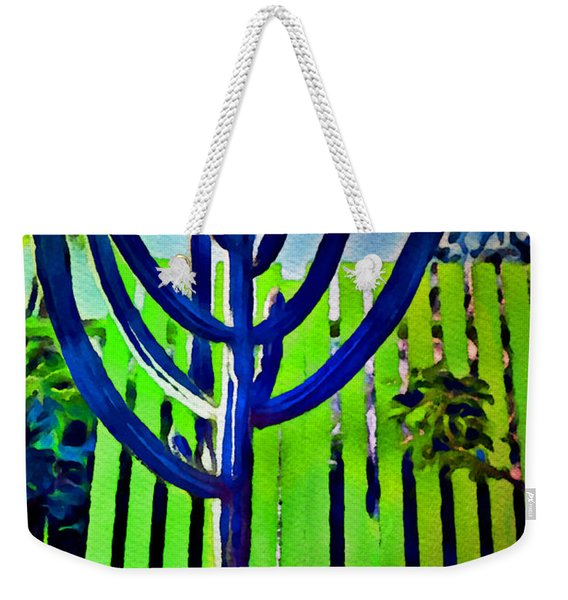 Green Fence Weekender Tote Bag