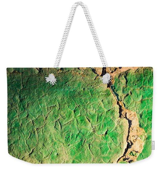 Green Flaking Brickwork Weekender Tote Bag