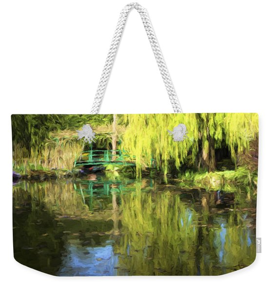 Green Footbridge In Monets Garden Weekender Tote Bag