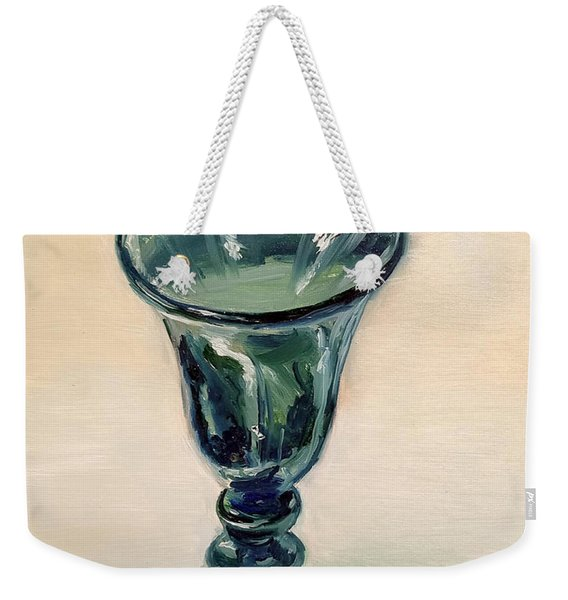Green Glass Goblet Weekender Tote Bag
