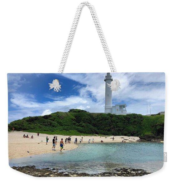 Green Island Beach Weekender Tote Bag