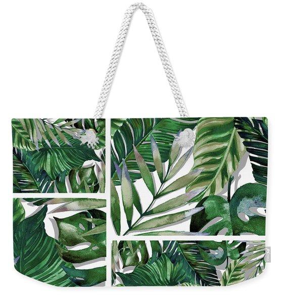 Green Life Weekender Tote Bag