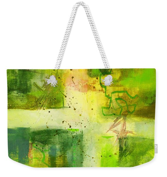 Green Light Abstract Weekender Tote Bag