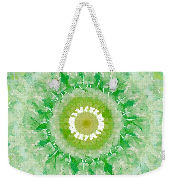 Green Mandala- Abstract Art By Linda Woods Weekender Tote Bag