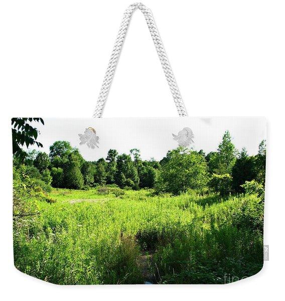 Green Meadow Weekender Tote Bag