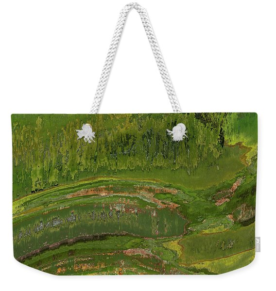 Green Moss Abstract Weekender Tote Bag