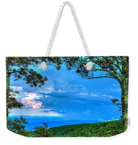 Green Mountain Storm Weekender Tote Bag