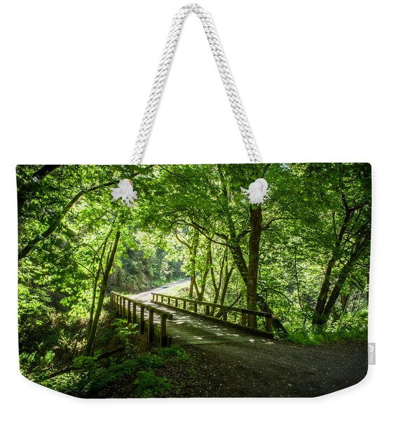 Green Nature Bridge Weekender Tote Bag