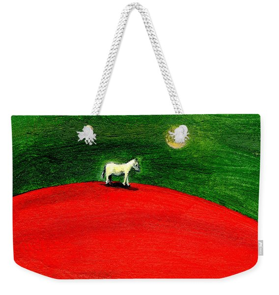 Green Night Weekender Tote Bag