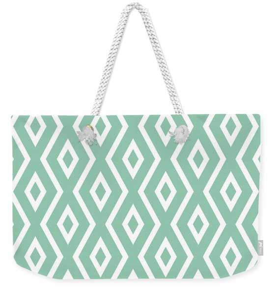 Light Sage Green Pattern Weekender Tote Bag