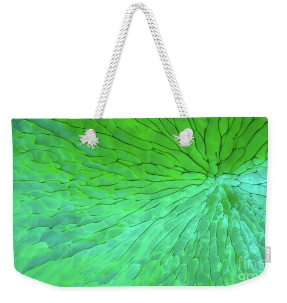 Green Pattern Under The Microscope Weekender Tote Bag
