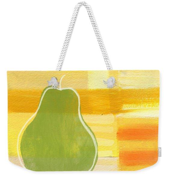Green Pear- Art By Linda Woods Weekender Tote Bag
