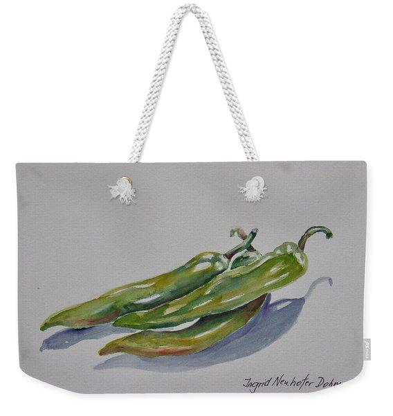 Green Peppers Weekender Tote Bag
