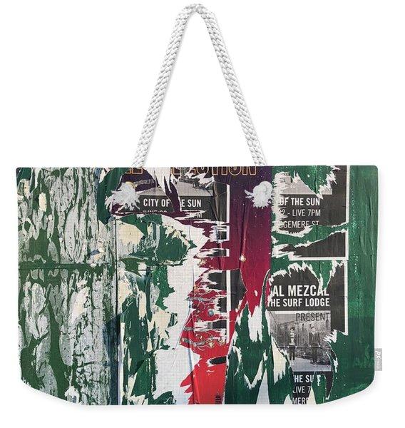 Green Placard Weekender Tote Bag
