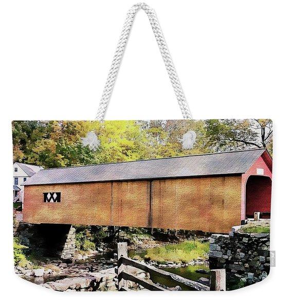 Green River Covered Bridge - Vermont Weekender Tote Bag
