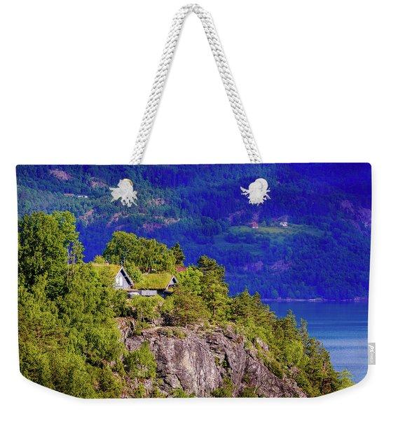 Green Roofs Of Lustrafjorden Weekender Tote Bag