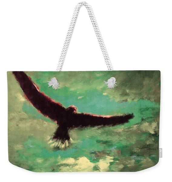 Green Sky Weekender Tote Bag