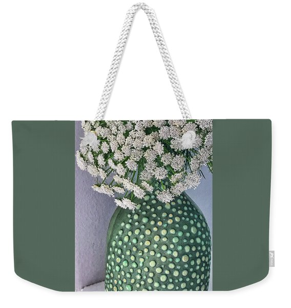 Green Slip Still Weekender Tote Bag